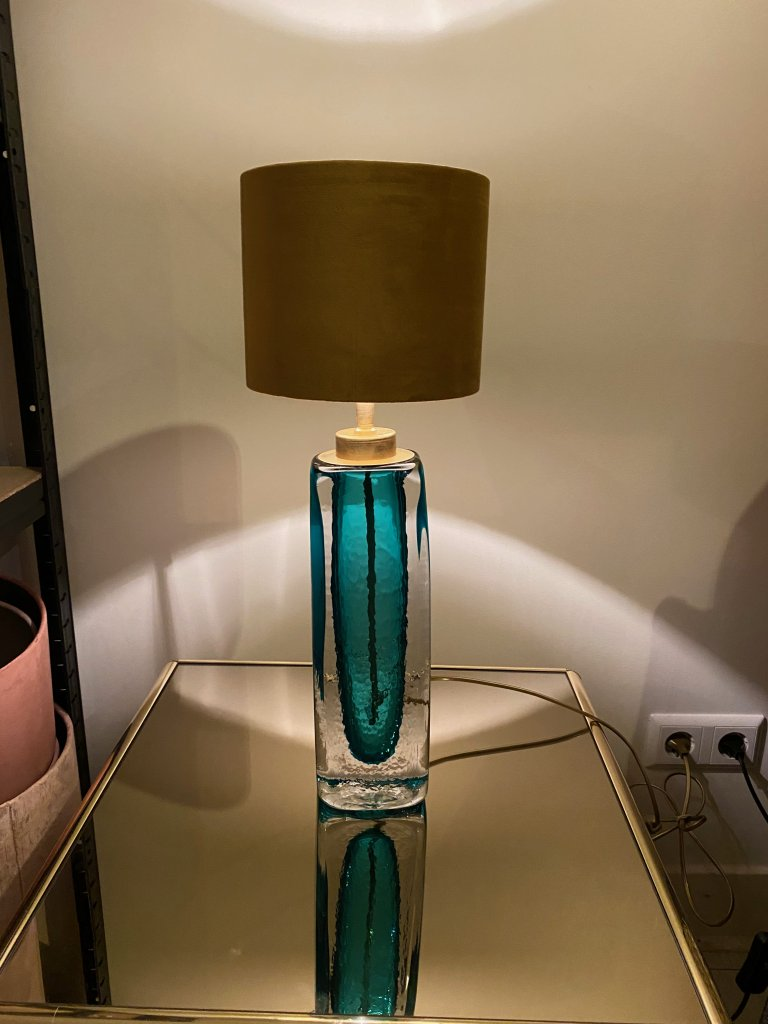 Heavy Turquoise Glass S