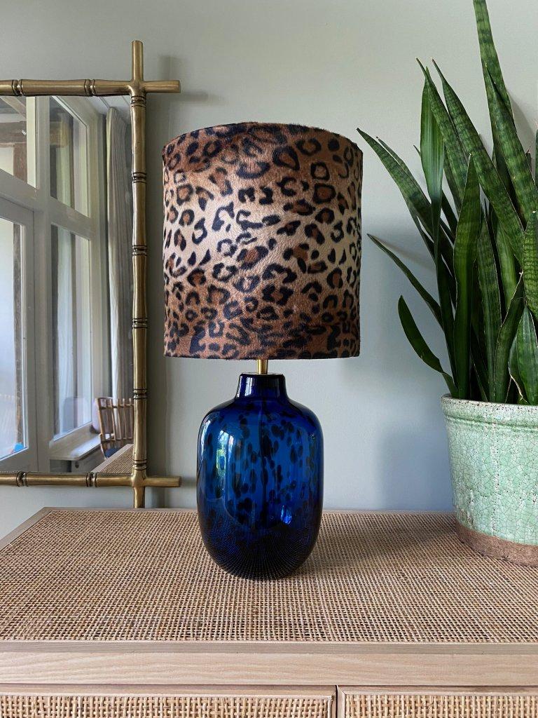 Blue Leopard Glass