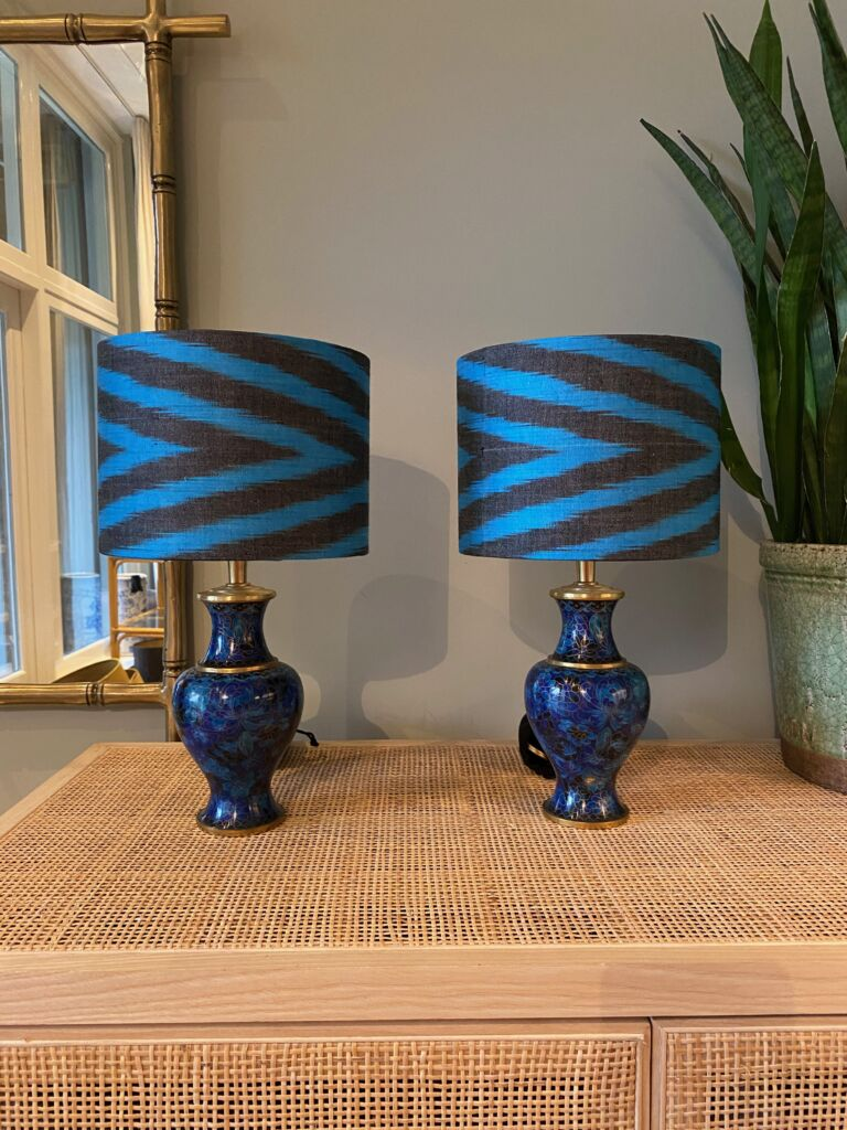 Small blue Cloisonne set