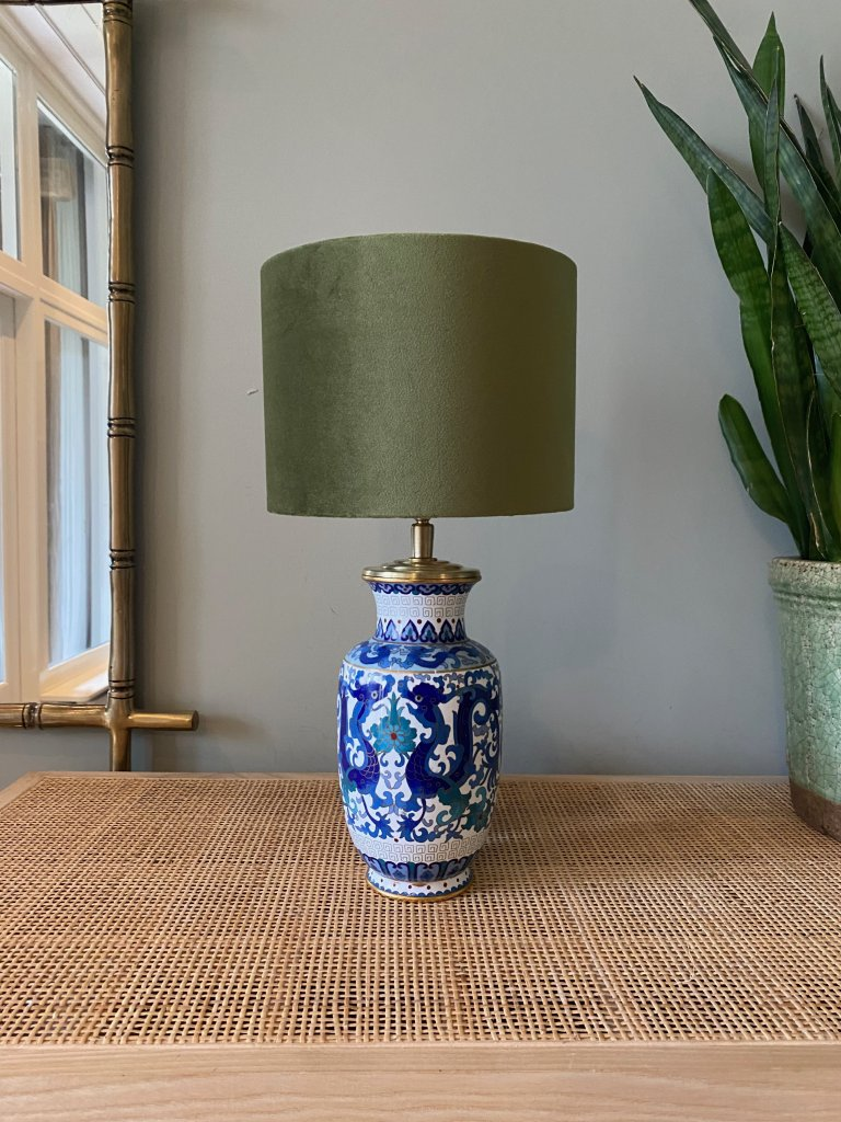 Vintage Blue and Green Chinese